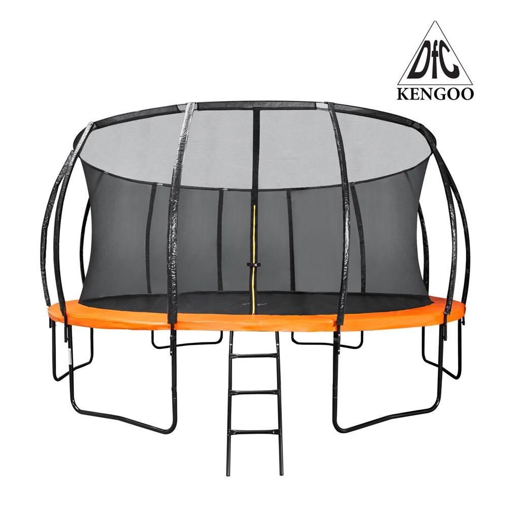 Батут DFC Trampoline Fitness KENGOO 16FT с сеткой