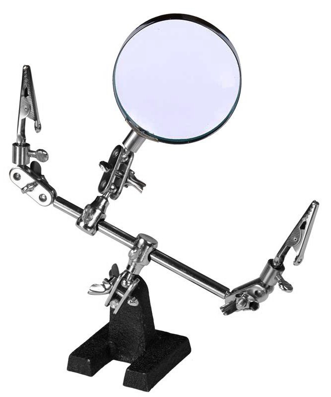 Лупа Kromatech настольная 4x, 60 мм, на поворотном шарнире с держателями BX 806
