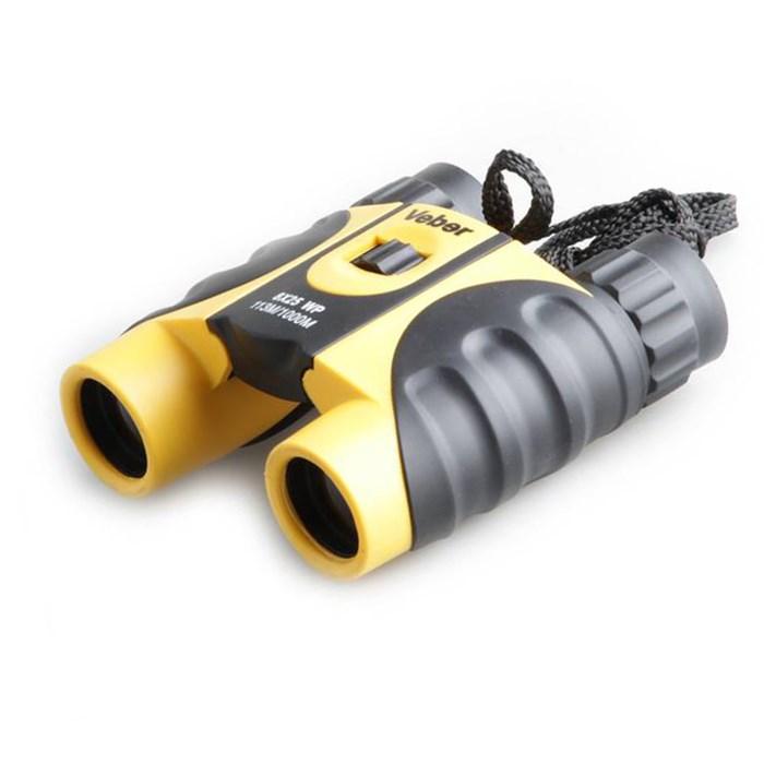 Бинокль Veber 8x25 WP, желто-черный