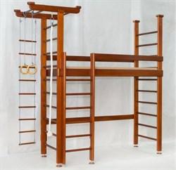 Кровать - чердак с рабочей зоной внизу и шведской стенкой