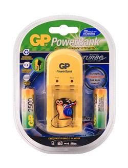 Зарядное устройство GP PowerBank S350 (4*GP AA 2500 мАч NiMH), блистер TURBO