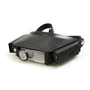 Лупа налобная Veber 1,8x/3,7x, 44x29 мм, с подсветкой (LP-23-11)