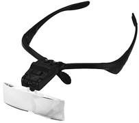 Лупа-очки Kromatech налобная 1,0/1,5/2,0/2,5/3,5x, с подсветкой (2 LED) MG9892B