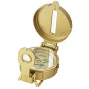 Компас жидкостный туристический Kromatech 48 мм, с крышкой и лупой (металл, золотистый)