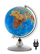 Глобус физический с подсветкой, диаметр 200 мм