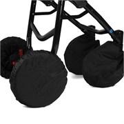 Чехлы на колеса коляски с двумя поворотными колесами текстиль