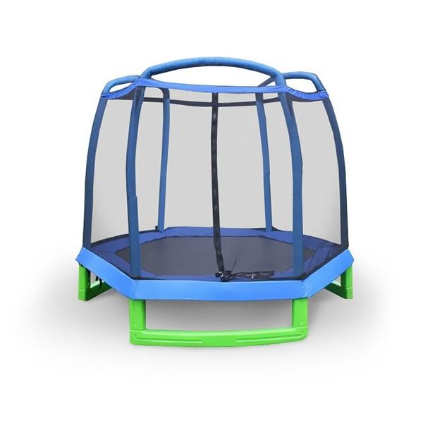 Батут детский Perfetto Sport 7 с защитной сеткой диаметр 2.1 м