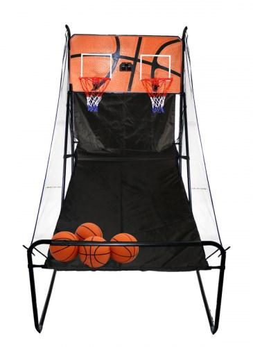 Баскетбольная электронная стойка с двумя кольцами