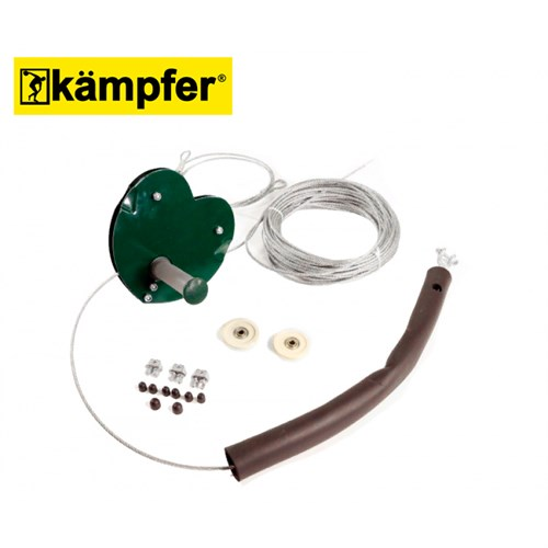 Канатная дорога тарзанка на металлическом троссе Kampfer