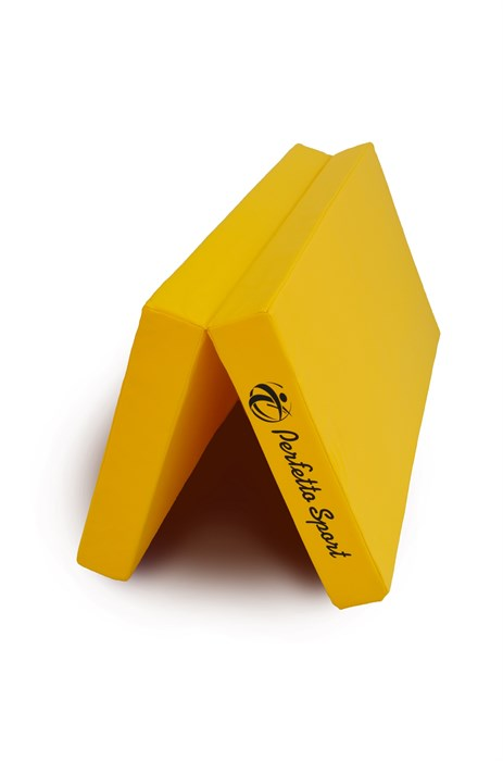 """Мат № 10 (100 х 150 х 10) складной 1 сложение """"PERFETTO SPORT"""" жёлтый"""