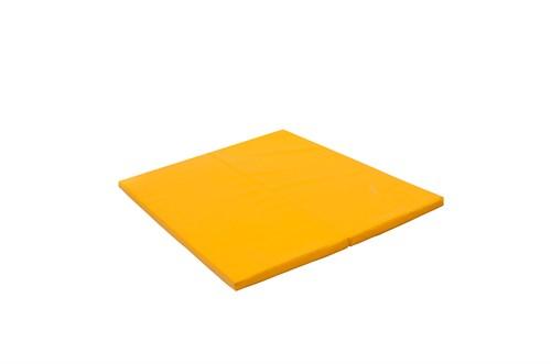"""Мат № 14 (100 х 123 х 4) складной """"PERFETTO SPORT"""" жёлтый"""