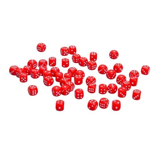 Кости пластиковые, 10мм, 1 шт, цвет красный