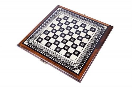 Доска шахматная инкрустация 40, Haleyan
