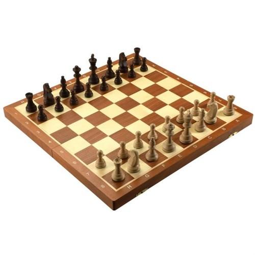 """Шахматы """"Торнамент 4"""", шахматная доска в коробке, Wegiel"""