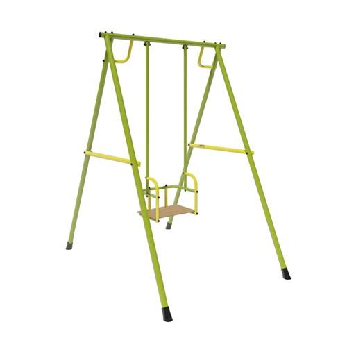 Качели Лидер-02 (металл. на подшипниках) зелёно/жёлтый