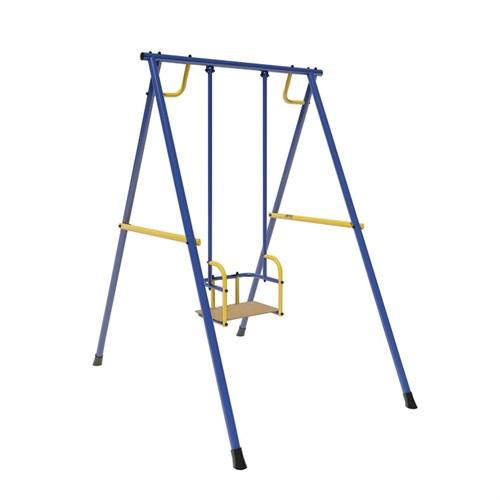 Качели Лидер-01 (металл. на подшипниках) сине/жёлтый