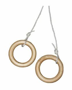 Круглые гимнастические кольца (Дерево)