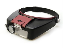 Лупа налобная Veber 1,8x/2,3x/3,7x/4,8x, 88x29 мм, с подсветкой (MG81007-A)