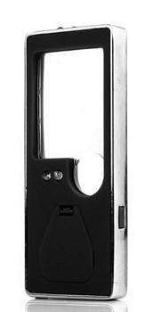 Лупа Kromatech карманная 3/10x, с подсветкой, ультрафиолет (5 LED), черная TH-7007