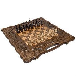 "Шахматы + нарды резные ""Антемион"" 60 с ручкой, Haleyan"