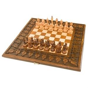 Шахматы + нарды резные с гранатами 50, Haleyan