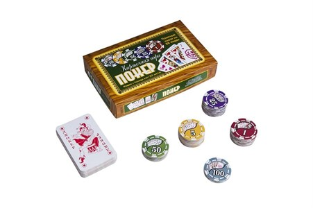 Походный набор для покера на 88 фишек