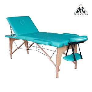 Массажный стол DFC NIRVANA, Relax Pro,дерев. ножки, цвет зеленый (Green)