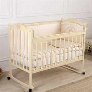 Кровать детская Incanto PALI с мишкой (колесо, качалка, опуск.планка)