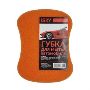 """Губка для мытья автомобиля iSky """"восьмерка"""", поролон, цвет в ассортименте"""
