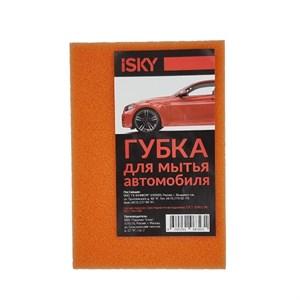 """Губка для мытья автомобиля iSky """"кирпич"""", поролон, цвет в ассортименте"""
