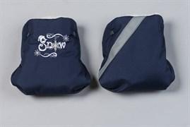 Меховая муфта рукавички с вышивкой.