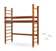 Одноярусная кровать-чердак с шведской стенкой
