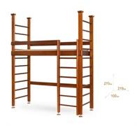 Одноярусная кровать-чердак с лестницей