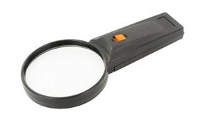 Лупа на ручке 3x, пластик, с подсветкой (26-75)