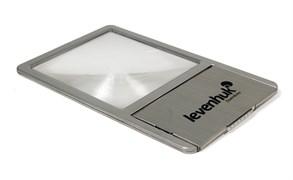 Линза Френеля Levenhuk (Левенгук) Zeno 90, 2,5x, 48x45 мм, 1 LED, металл